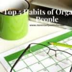 organized people habits
